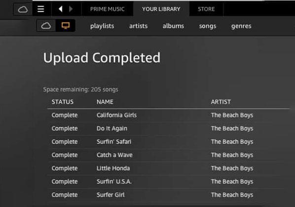 Commence Uploading Music To Amazon Cloud