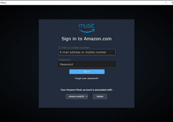 Sign Into Amazon cloud