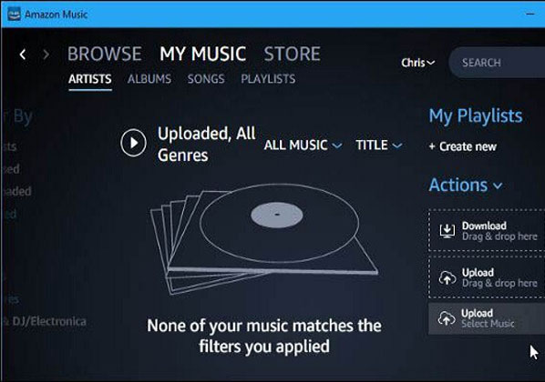 Tap On The Upload Your Music Button